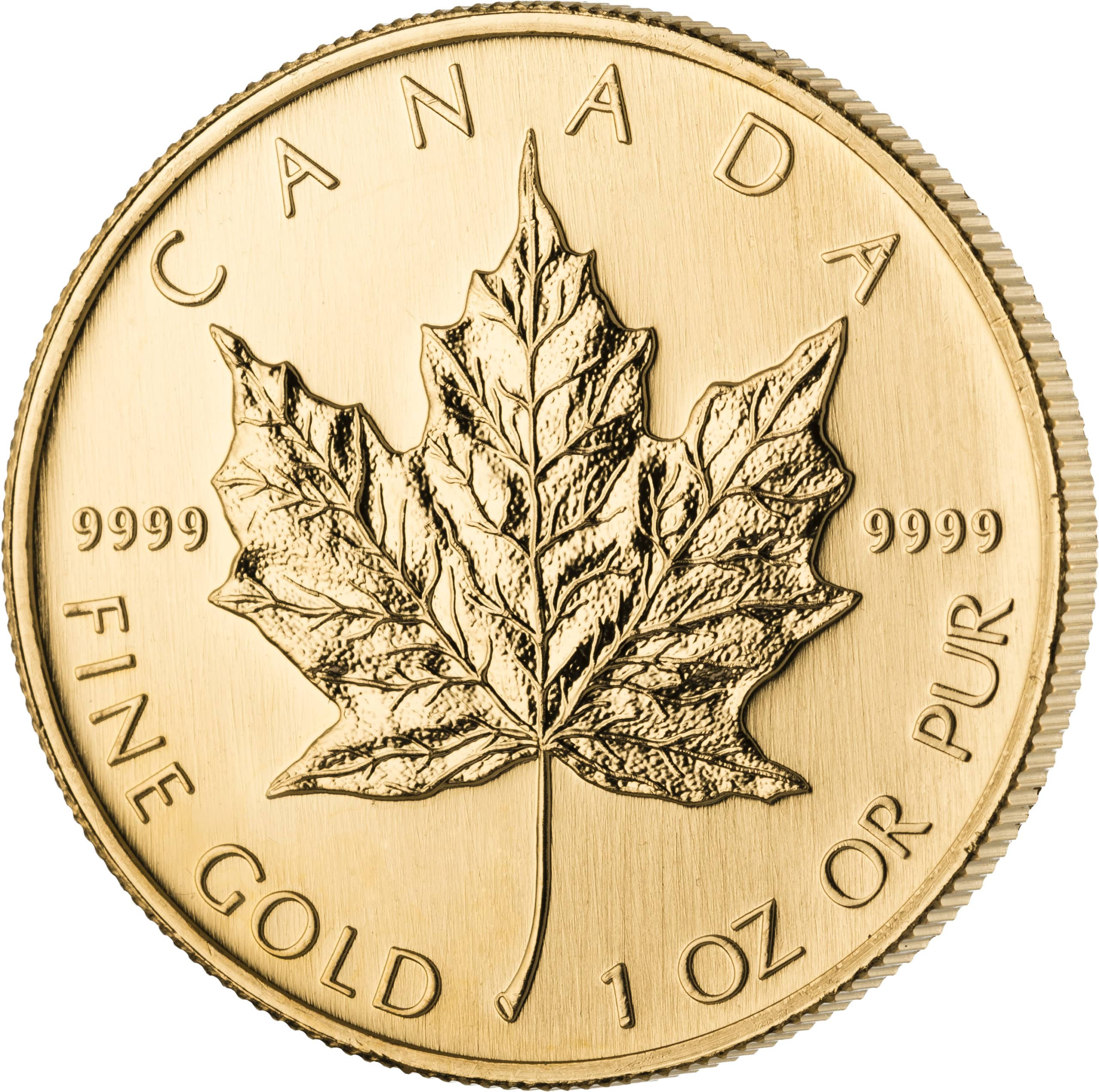 1 Unze Maple Leaf Goldmünze Vorderseite