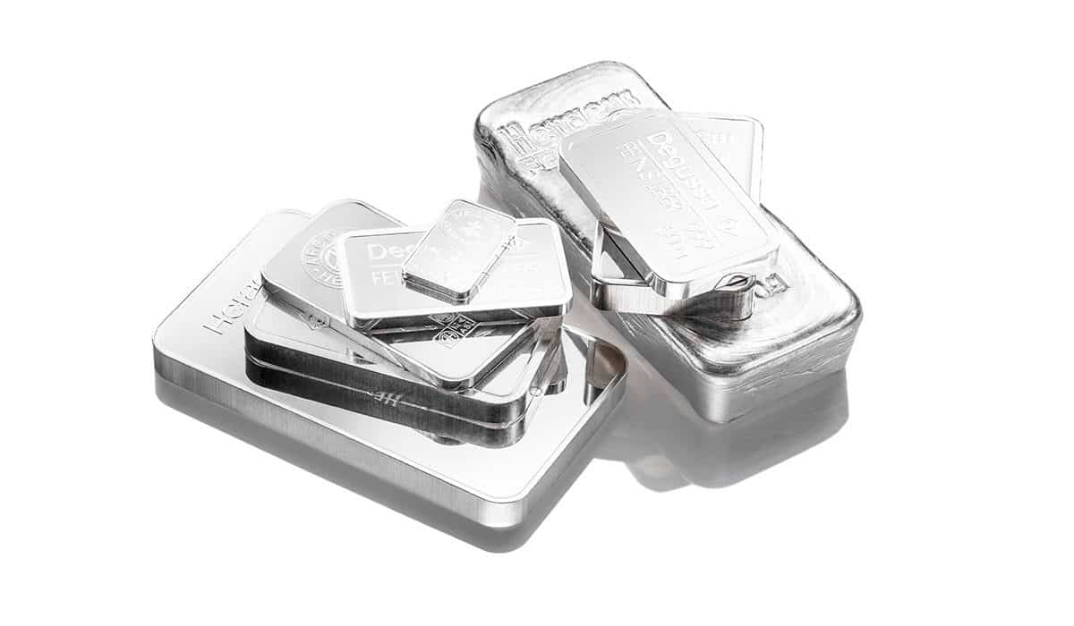 Silberbarren als Sachwert