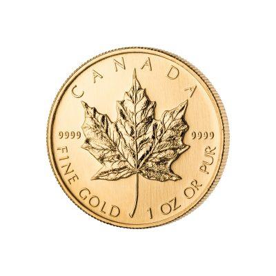 1 Unze Maple Leaf Goldmünze Vorderseite