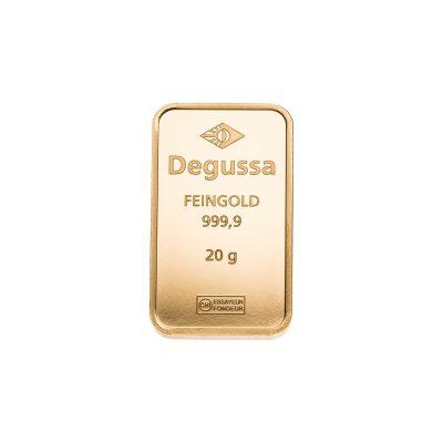 20g Goldbarren Degussa Vorderseite