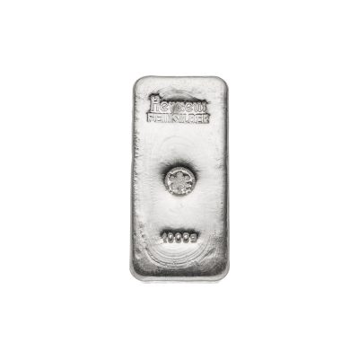 1000g Silberbarren Heraeus Vorderseite