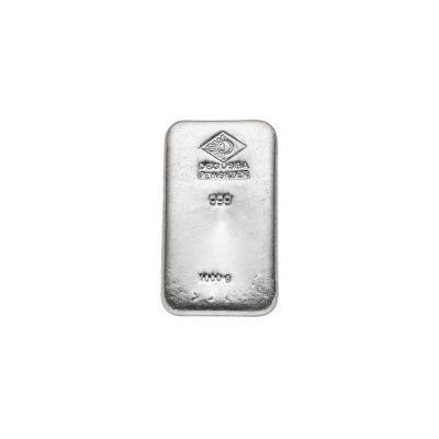 1000g Silberbarren Degussa Vorderseite