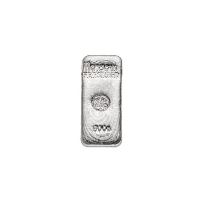 500g Silberbarren Heraeus Vorderseite