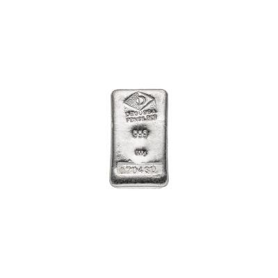 500g Silberbarren Degussa Vorderseite