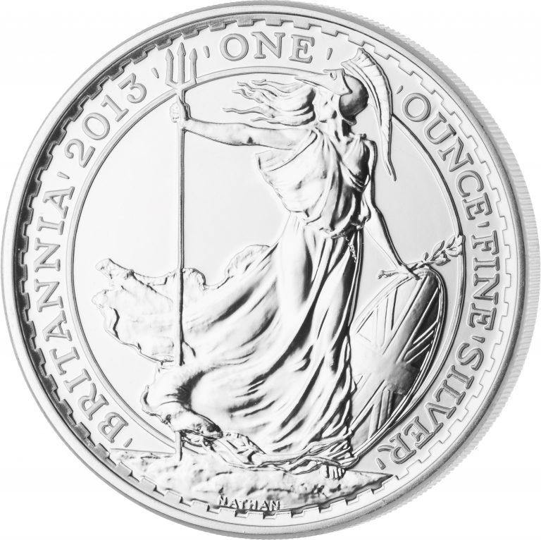 Britannia-Silbermünze