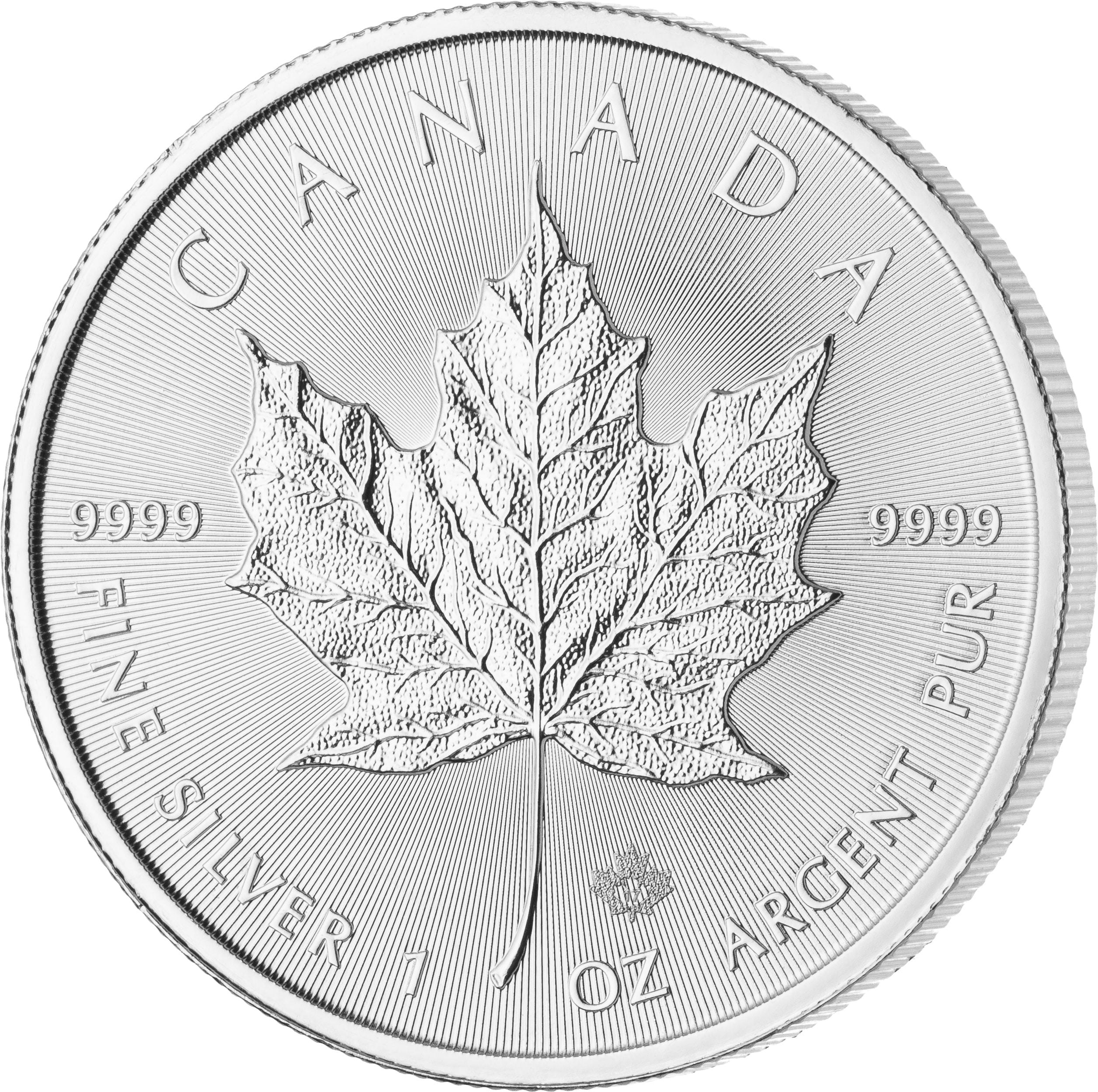 1 Unze Maple Leaf Silbermünze Vorderseite