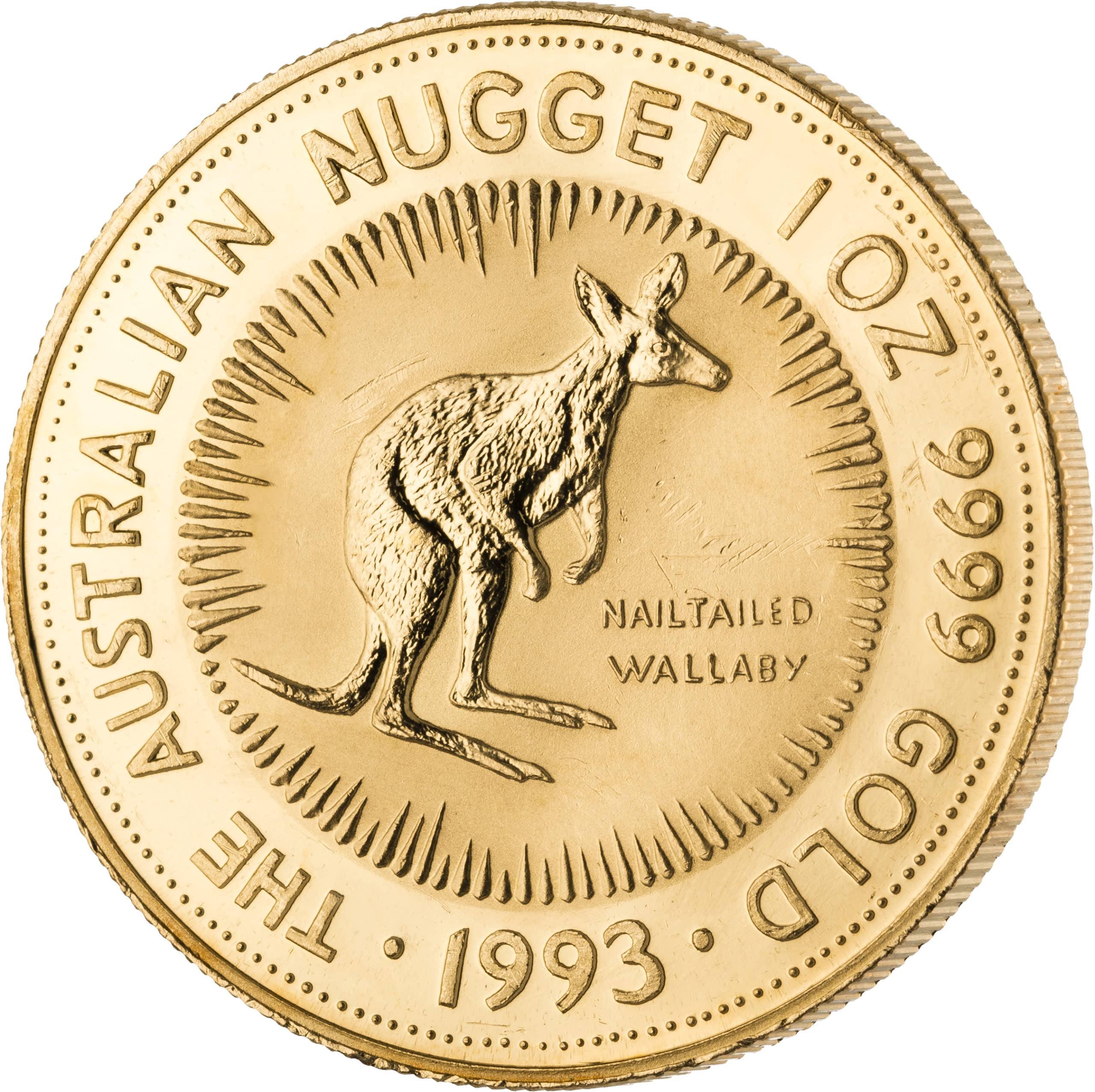 1 Unze Australian Nugget Goldmünze Vorderseite