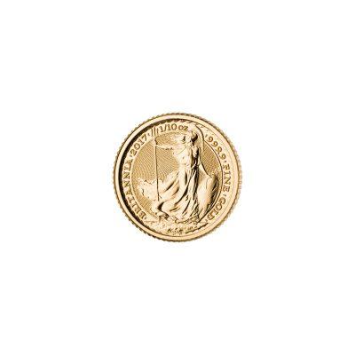 1/10 Unze Britannia Goldmünze Vorderseite