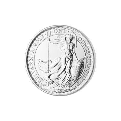 1 Unze Britannia Silbermünze Vorderseite