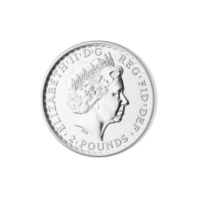 1 Unze Britannia Silbermünze Rückseite
