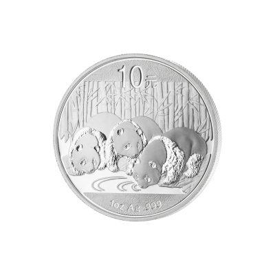 1 Unze China Panda Silbermünze Vorderseite