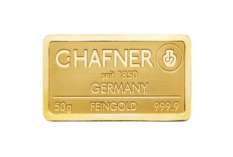 Goldbarren-–-50g