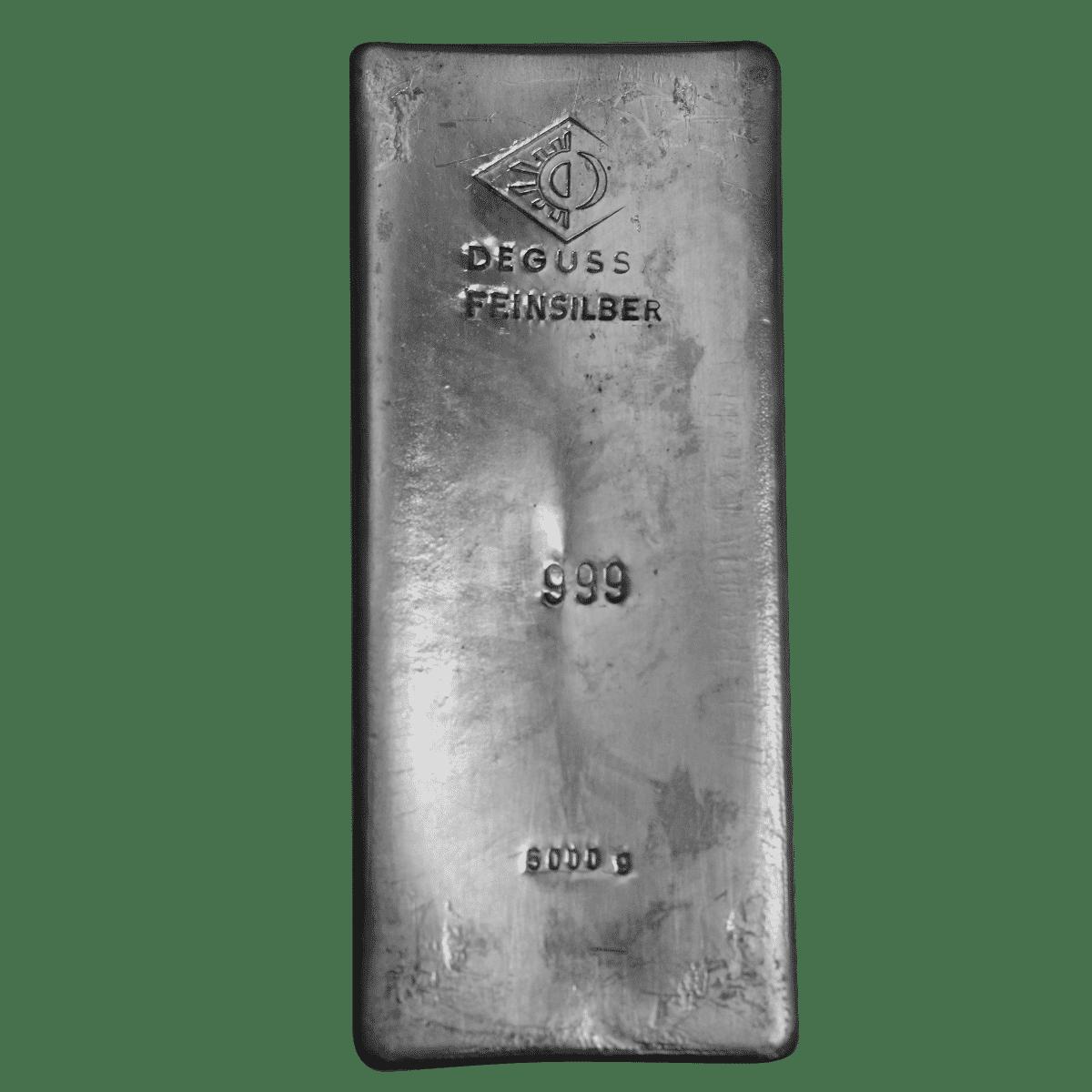 5000g Silberbarren Detailansicht