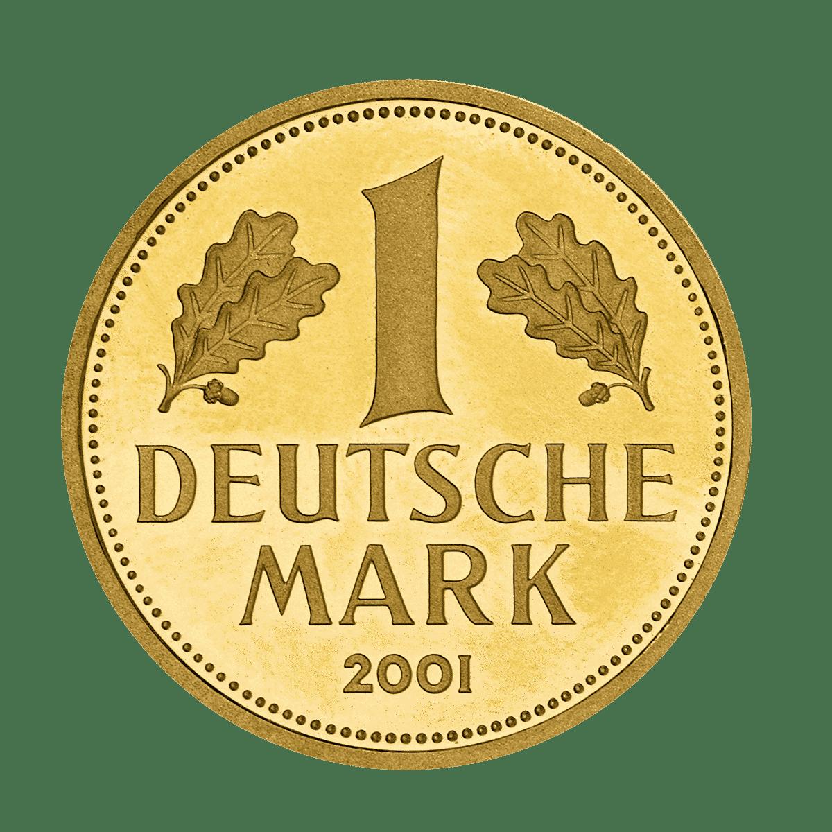 Deutsche Mark Goldmünze Vorderseite