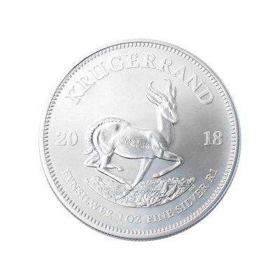 1 Unze Krügerrand Silbermünze Vorderseite